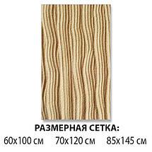 Виниловая наклейка на стол Песок, песочный рельеф полосы самоклеющаяся двойная пленка, бежевый 60 х 100 см, фото 2