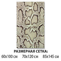 Виниловая наклейка на стол Кожа Питона, змеиная шкура змея самоклеющаяся двойная пленка, серый 60 х 100 см, фото 2
