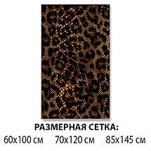 Виниловая наклейка на стол Кожа змеи крокодила самоклеющаяся двойная пленка, коричневый 60 х 100 см, фото 2