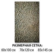 Виниловая наклейка на стол Растительные узоры завитки самоклеющаяся двойная пленка, оливковый 60 х 100 см, фото 2