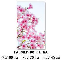 Наклейка на стол Розовая Сакура цветы вишни, самоклеющаяся виниловая пленка, цветы, розовый 60 х 100 см, фото 2