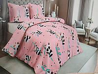 Красивое детское постельное белье полуторка, панда розовая