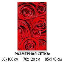 Наклейка на стол Алые розы Красные бутоны, Пленка самоклейка для мебели фотопечать, цветы, красный 60 х 100 см, фото 2