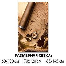 Виниловая наклейка на стол Письмо ламинированная двойная пленка, 60 х 100 см, абстракция, бежевый, фото 2