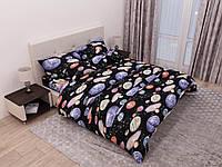 Комплект красивого постельного белья, двухспалка, планеты