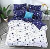 Комплект стильного постельного белья, двухспалка, милые звезды