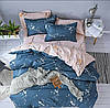Нежный и красивый комплект постельного белья, полуторка, веточки