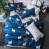 Красивое и качественное постельное белье, євро, северное сияние