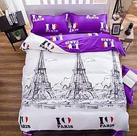 Комплект постельного белья отличного качества, полуторка, париж