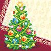 Салфетка бумажная новогодняя