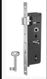 Замок для металлопластиковых  дверей одноточечный (короткий) с ключом с защелкой PAVO 262.090.025 25 дорнмас