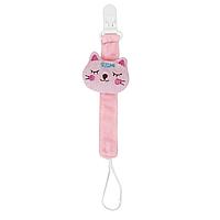 Цепочка тканевая (розовый кот)