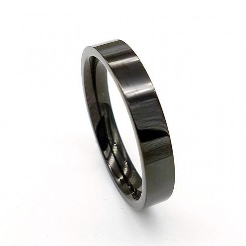 Черное кольцо для мужчин и женщин американка 4 мм 176255