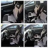 Повний комплект Універсальні чохли на сидіння авто Сірого кольору з поліестеру, фото 5