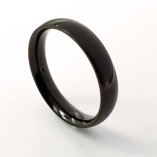 Черное кольцо для мужчин и женщин медицинская сталь 3 мм 176256