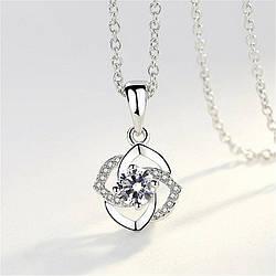 Жіночий кулон у вигляді квітки, медсплав, кулон срібного кольору AL1723-75