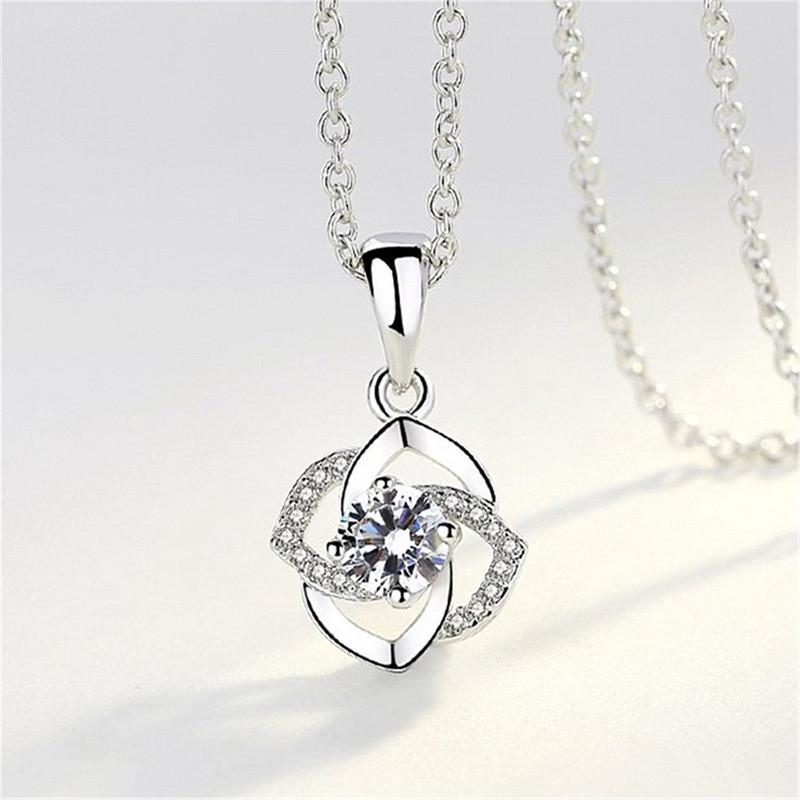 Женский кулон в виде цветка, медсплав, кулон серебреного цвета AL1723-75