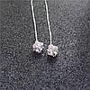Сережки Підвіски, медсплав, жіночі сережки з кристалом, сережки срібного кольору AL1711-75, фото 6
