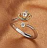 Кільце «Корона» , Медсплав, Жіноче кільце з кристалом, Жіноча прикраса корона AL174475, фото 2