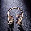 """Жіноче кільце """"Метелик"""", медсплав, кільце золотого кольору, кільце з метеликами AL1749-65, фото 2"""