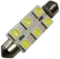 Светодиодная лампа Crystal light LED SV8.5 (6-SMD)(12V)(41mm)