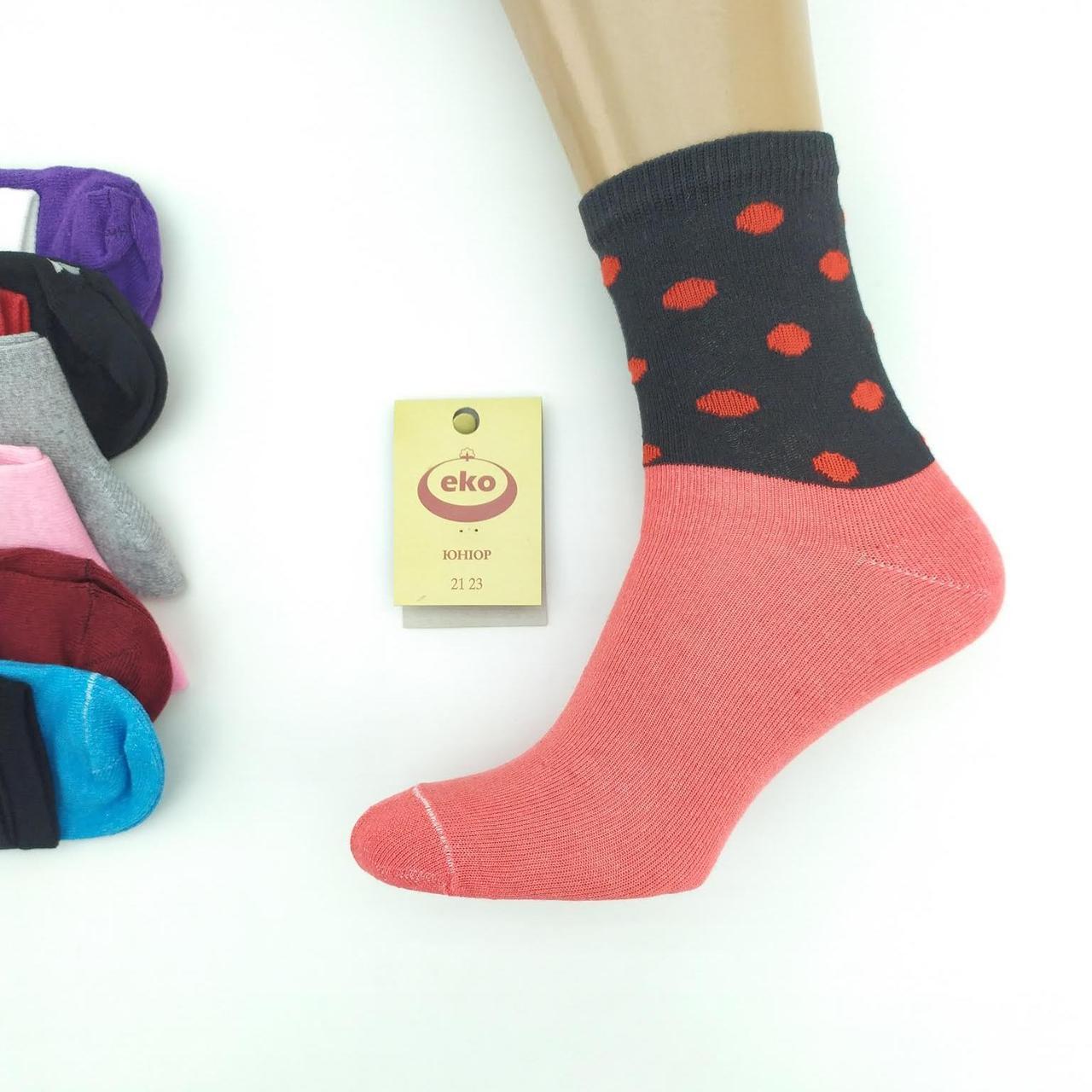Носки детские-подростковые демисезонные с разными рисунками, для девочки, ЕКО, р21-23, случайное ассорти,  20029647