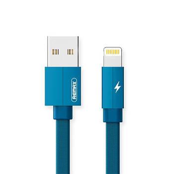 Кабель lighting для Iphone Remax Kerolla Lightning Data/Charge 1M Голубой (RC-094I1M-BLUE)