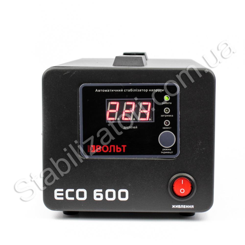 Вольт ЕСО 600 стабилизатор напряжения для котла насоса Стабилизатор на две 2 розетки чёрный напольный