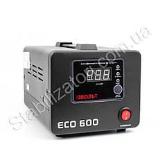 Вольт ЕСО 600 стабилизатор напряжения для котла насоса Стабилизатор на две 2 розетки чёрный напольный, фото 3