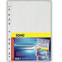 Прозорі файли Soho А4 100шт 40мкм глянц