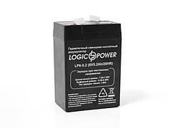 LogicPower LP6-5.2 AH  - 6В - 5,2 А/ч - кислотный акумулятор для фонаря, весов, детской машинки