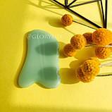Скребок ГуаШа Пластина, зеленое стекло, фото 4