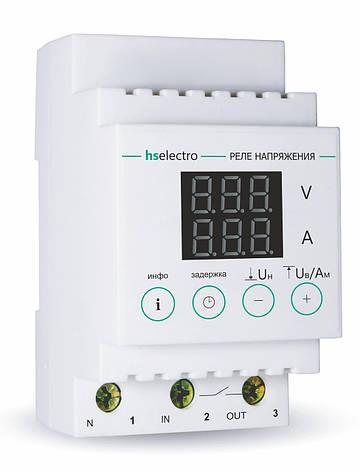 Реле напряжения с контролем тока HS-Electro НТ-32с, фото 2