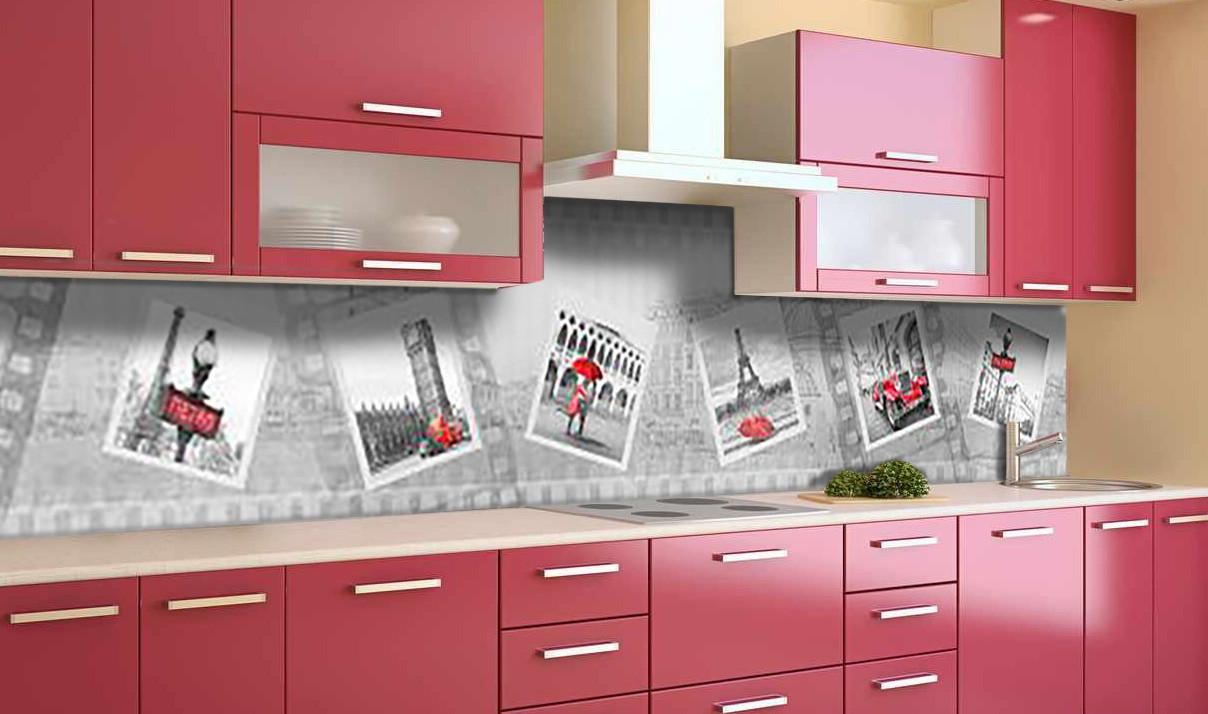 Виниловый кухонный фартук Фотография Лондон (самоклеющаяся пленка ПВХ скинали 3Д) фотосамоклеющаяся пленка Абстракция Серый 600*2500 мм