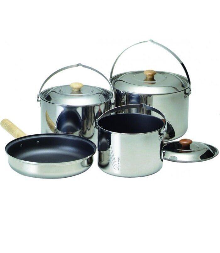 Набор туристической посуды Kovea KK8CW0301 Family Stainless Deluxe XL