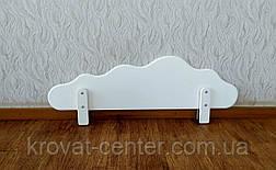"""Білий захисний бортик на дитячу та двох'ярусне ліжко з МДФ """"Хмара"""" 100 див., фото 3"""