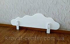 """Білий захисний бортик на дитячу та двох'ярусне ліжко з МДФ """"Хмара"""" 100 див., фото 2"""