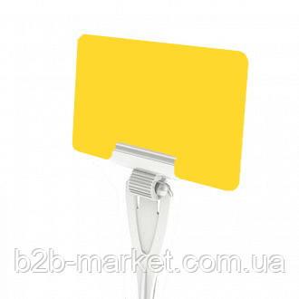 Грифельні таблички для надписів, колір Жовтий / меловая табличка / крейдовий цінник