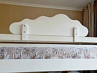 """Белый защитный бортик на детскую и двухъярусную кровать из МДФ """"Облако"""" 100 см."""