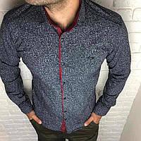 Рубашка мужская XL длинный рукав. Турция. Молодежная турецкая рубашка трансформер. Черный