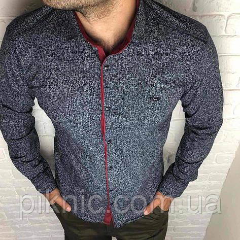 Рубашка мужская S,XL,XXL  длинный рукав. Турция. Молодежная турецкая рубашка трансформер. Черный, фото 2