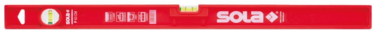 Рівень будівельний пластиковий P 60, 600 мм, 2 акрилові колбі, точність 0,5 мм\/м