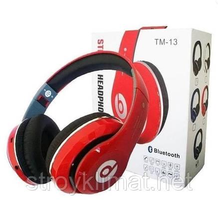 Наушники беспроводные Bluetooth Monster Beats TM-13 c Мощным Звуком с mp3+FM радио, фото 2