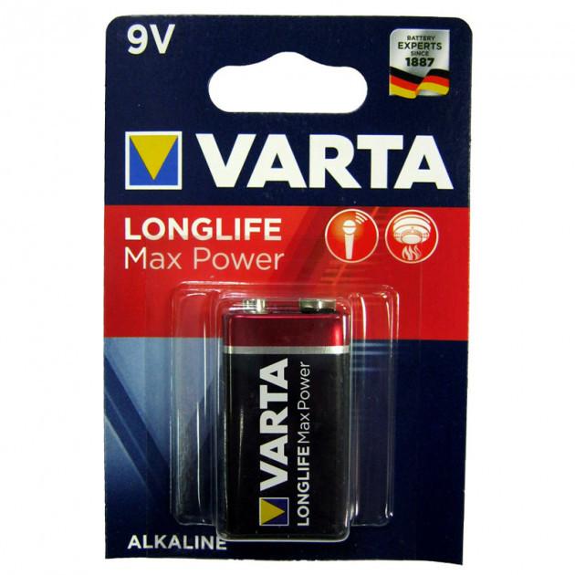 Батарейка Longlife Max Power 9V/6LR61 Alkaline Varta