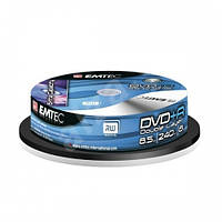 Emtec DVD+R 8,5 GB 8x, Double layer, Cake box/10 Диски двухслойные