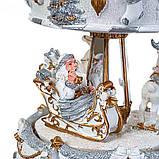 Статуетка Lefard Санта на каруселі 16х11 см 16002-003, фото 2