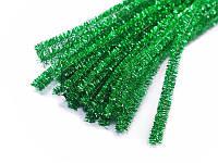 Синельная проволока — Блестящий зеленый, диаметр 7 мм, 30 см, 1 шт