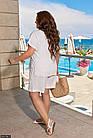 Костюм женский шорты футболка большого размера  белый Осень Украина 48-62, 830708-5, фото 4