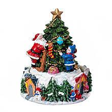 Статуэтка Lefard Новогодняя елка 16х12 см 16002-002 фигурка елочка керамика