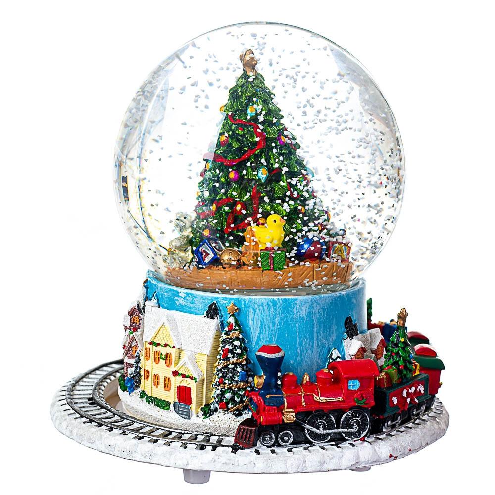 Снігова куля Lefard Різдвяна ялинка 17х16 см 16002-009